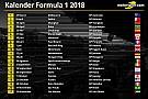 Formula 1 Jadwal resmi kalender Formula 1 2018