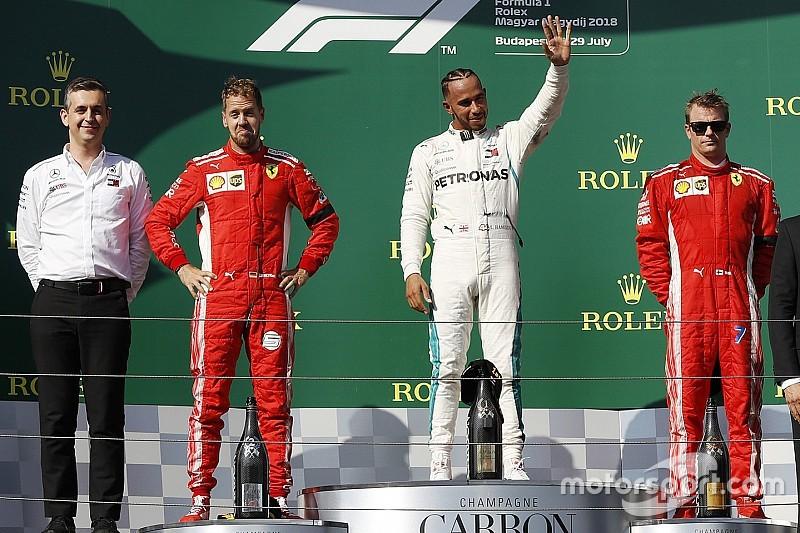 Гран Прі Угорщини: Хемілтон впевнено виграв, дві Ferrari на подіумі
