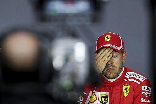 """Malgré son erreur, Vettel est """"content d'avoir essayé"""""""