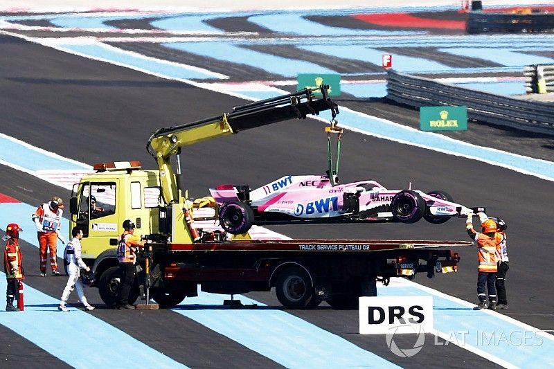 Lourde amende pour Force India suite à la roue perdue par Pérez