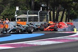 """Hamilton: """"Fue como si Vettel dejara de pensar"""""""