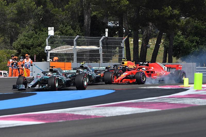 Mercedes findet: Vettel-Strafe nach Frankreich-Foul zu lasch!