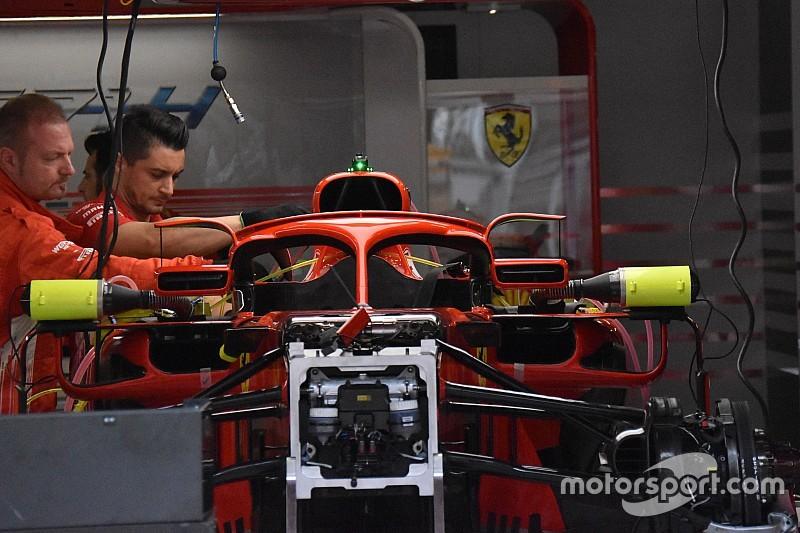 Ferrari повесила зеркала заднего вида на Halo