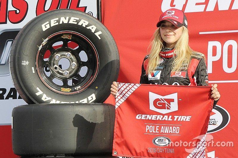 Natalie Decker takes pole for ARCA season-opener at Daytona
