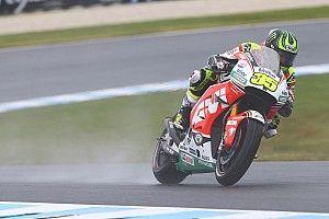 Australian MotoGP: Crutchlow tops wet opening practice