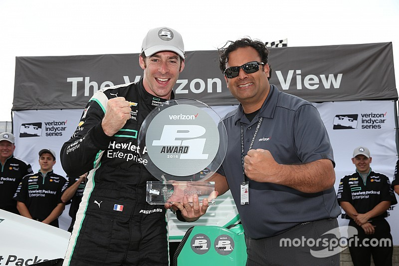 Pagenaud on pole for Detroit's race 2, Power is penalized