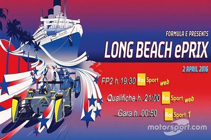 Ecco la programmazione TV dell'ePrix di Long Beach
