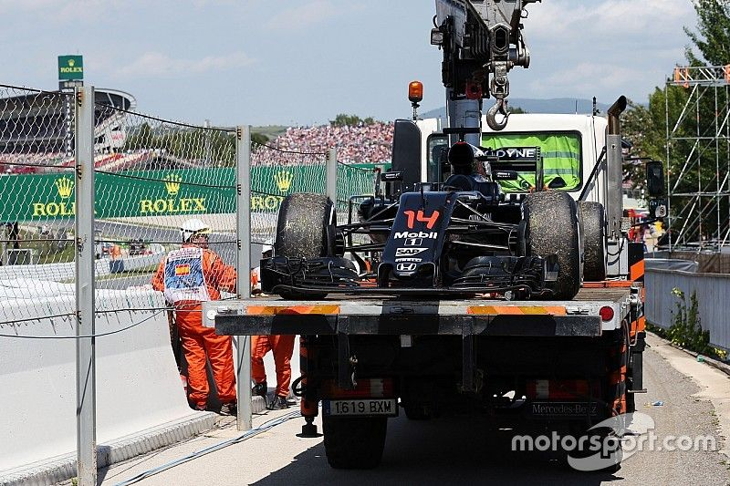Alonso's engine went into fuel cut-off mode in Spanish GP