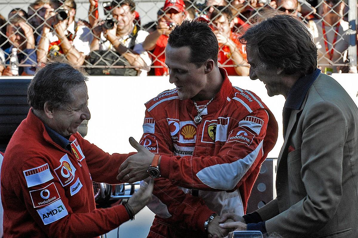 """Montezemolo: """"Schumacher maniacale anche come padre, il suo DNA è nella Ferrari"""""""