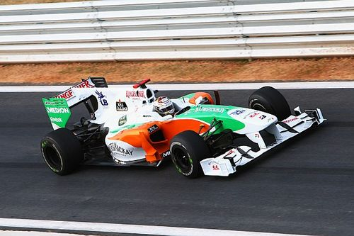 Все машины Force India, которые выходили на старт в Формуле 1