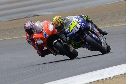 """Rossi: """"2008'de mevcut pist sınırları geçerli olsaydı, Laguna Seca yarışını kazanamazdım"""""""