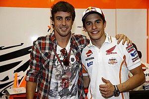 El encuentro entre Márquez y Alonso... en Instagram