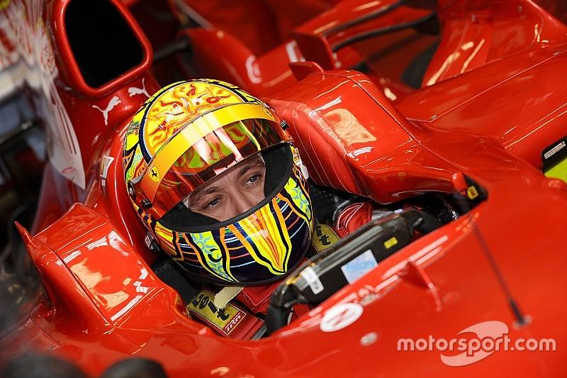 GALERÍA: hace 10 años Rossi a bordo de un Ferrari de F1