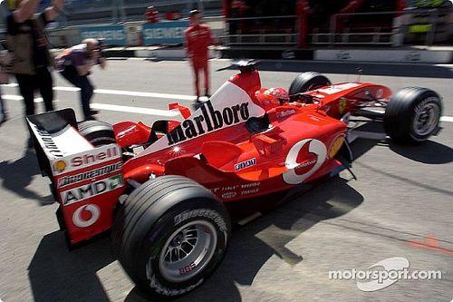Schumacher a lángra kapott Ferrariban: hidegvér