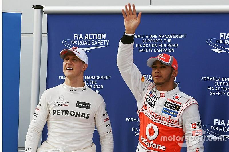 Вильнев: Хэмилтон и Шумахер побеждали только с лучшими машинами