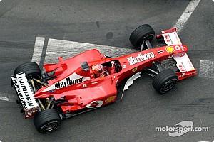 シューマッハーの愛機フェラーリF2002、アブダビGPのオークションに登場