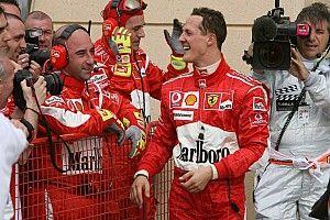Képes összeállítás az 50 éves Schumacher F1-es rajtelsőségeiről