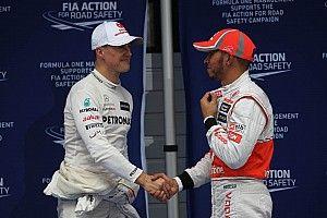 """Briatore sobre Hamilton vs. Schumacher: """"Antes había mas competitividad"""""""