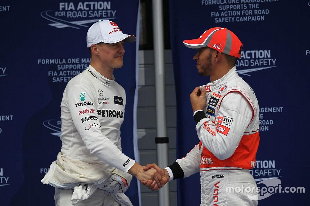 Hamilton supera recorde estabelecido por Schumacher em 1995