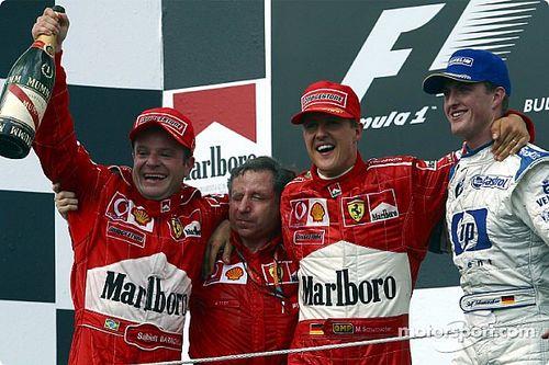 Все победители и призеры Гран При Венгрии с 2000 года