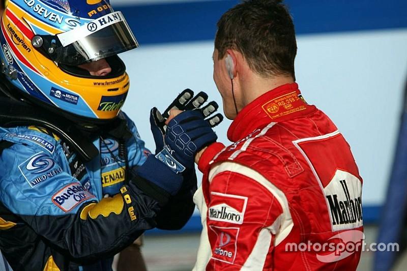 """Alonso: En büyük """"rakibim"""" Schumacher'in kaskını hazineymiş gibi saklıyorum"""