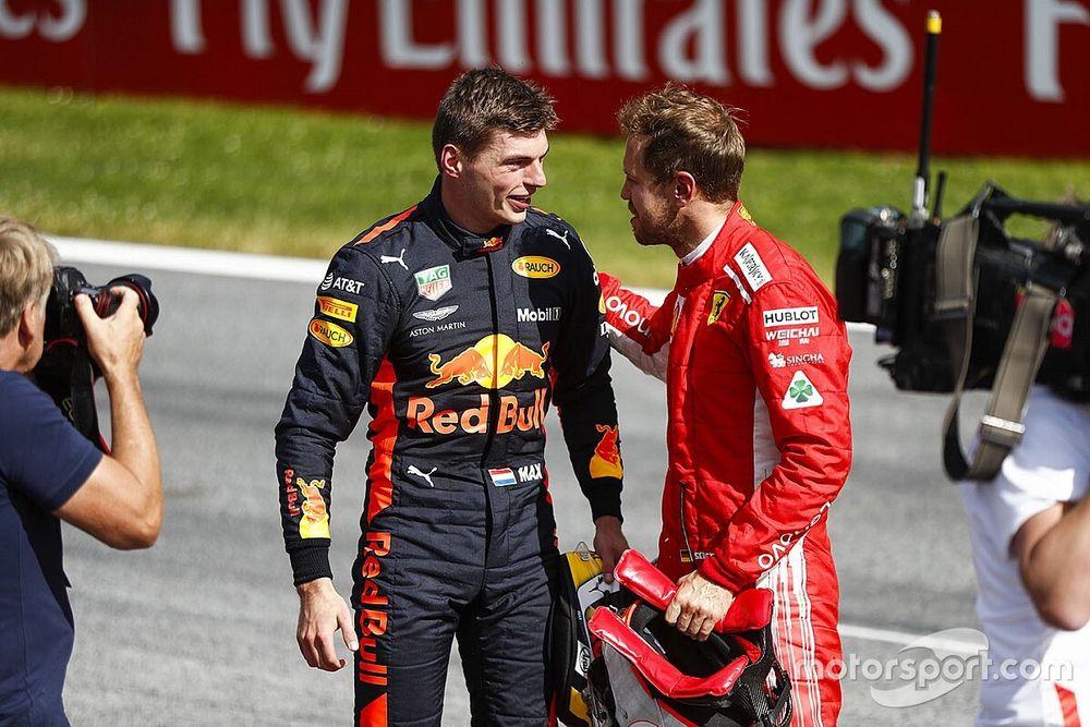 """Vettel: """"Een dikverdiende overwinning voor Verstappen"""""""