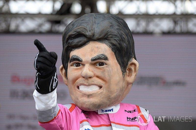 """GALERÍA: Así subió Sergio """"Checo"""" Pérez al podio de F1"""