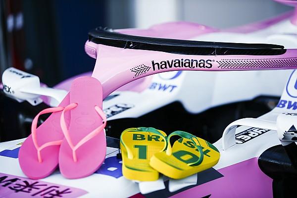 Fórmula 1 Noticias Force India imita a McLaren: una famosa marca de chanclas patrocina su Halo