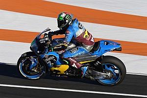 MotoGP Reaktion Franco Morbidelli mit Valentino Rossi auf der Strecke: