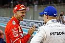 Vettel és Bottas vicces bakija a díjátadás előtt