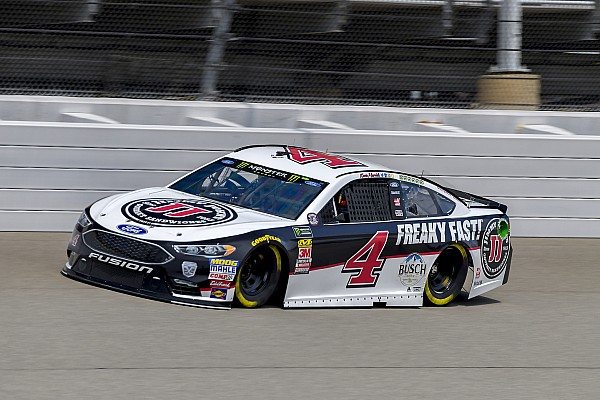 Kevin Harvick wins Stage 2 at Michigan as rain threatens