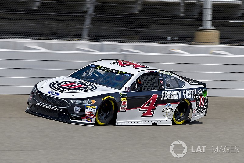 Kevin Harvick fastest in rain-shortened practice at Michigan