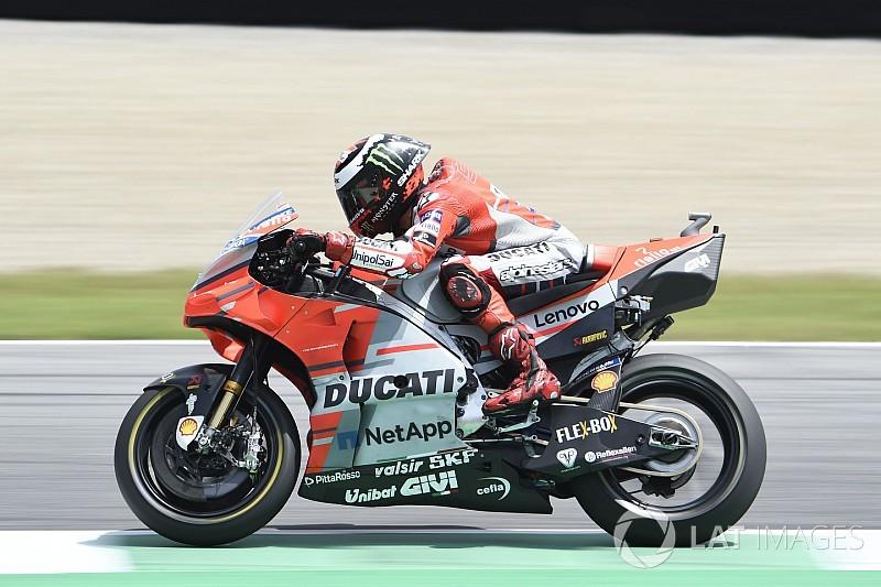 Lorenzo lidera dobradinha da Ducati em Mugello; Márquez cai