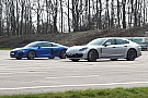 Automotive Porsche Panamera Turbo S E-Hybrid fights off Audi R8 in drag race