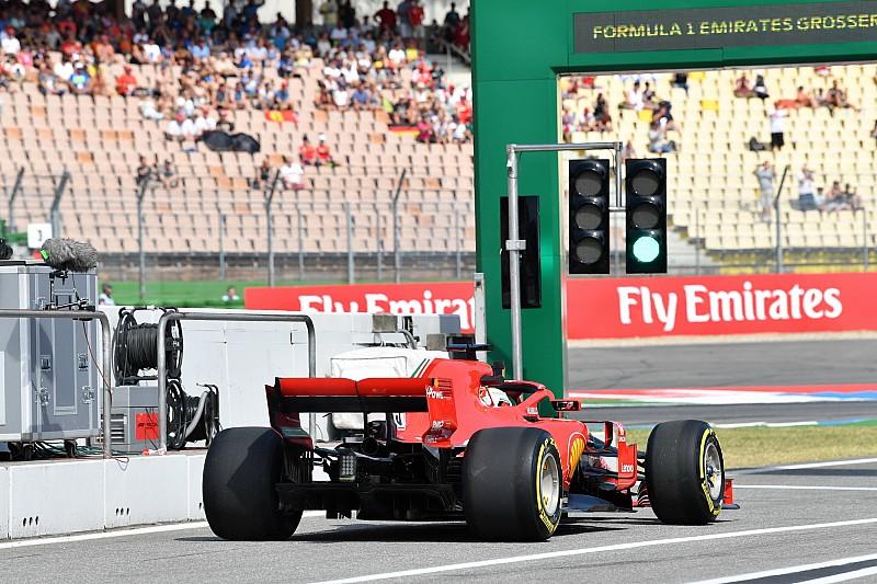 Ferrari mit neuem Auspuff-System in Hockenheim