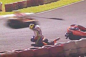 Vidéo - Un équipier de Massa en kart tente d'étrangler un concurrent