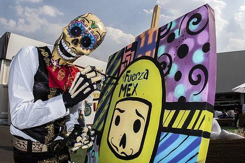 GALERÍA: la euforia del Día de Muertos en el GP de México