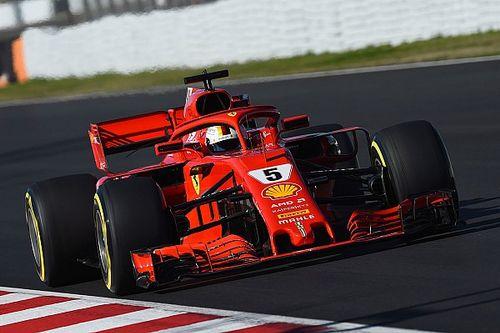 Vettel quickest, McLaren in trouble as F1 testing resumes