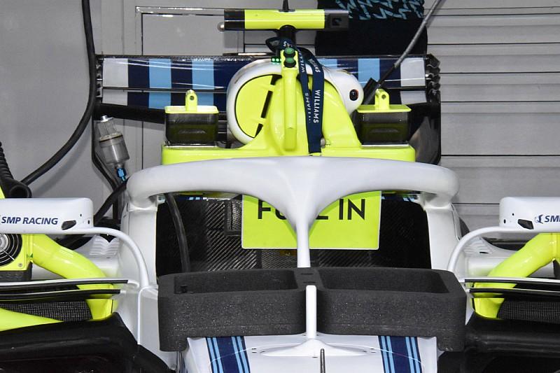 Williams и Renault протестировали Halo без дополнительных закрылков