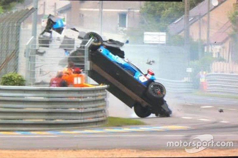 Villorba Corse chassis survives airborne Le Mans crash