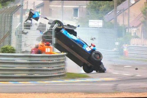 Le crash spectaculaire de Sernagiotto s'est bien terminé