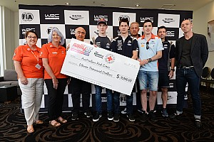 WRC drivers donate $11,000 to fire victims