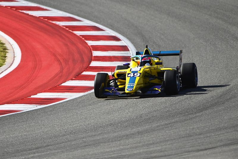 W Series US: Pulling pips Chadwick to race one pole, Powell tenth