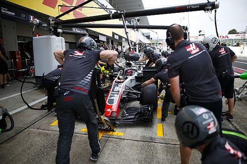 Возгорание лишило Haas телеметрии на машине Грожана на Гран При Японии