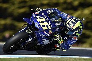 Dixième, Rossi a perdu trop de temps avec le pneu medium