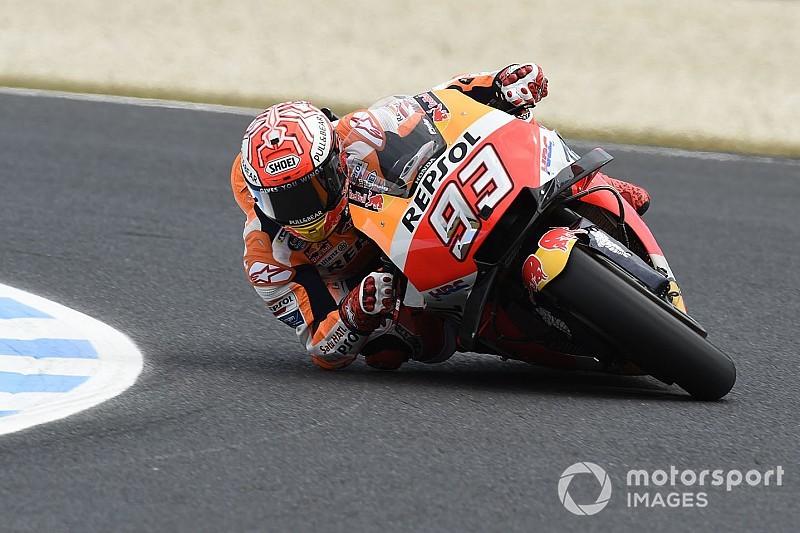 Márquez aproveita garoa e crava 5ª pole seguida na Austrália