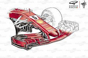 Ferrari: l'ala anteriore che flette riprende un concetto lanciato dalla Red Bull