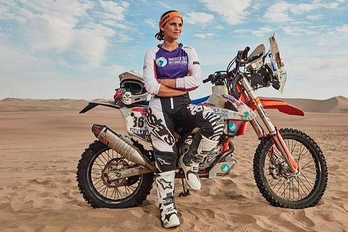 """Gianna Velarde: """"Este Dakar no me venció"""""""