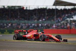 Vettel no se sintió cómodo con el coche en Silverstone
