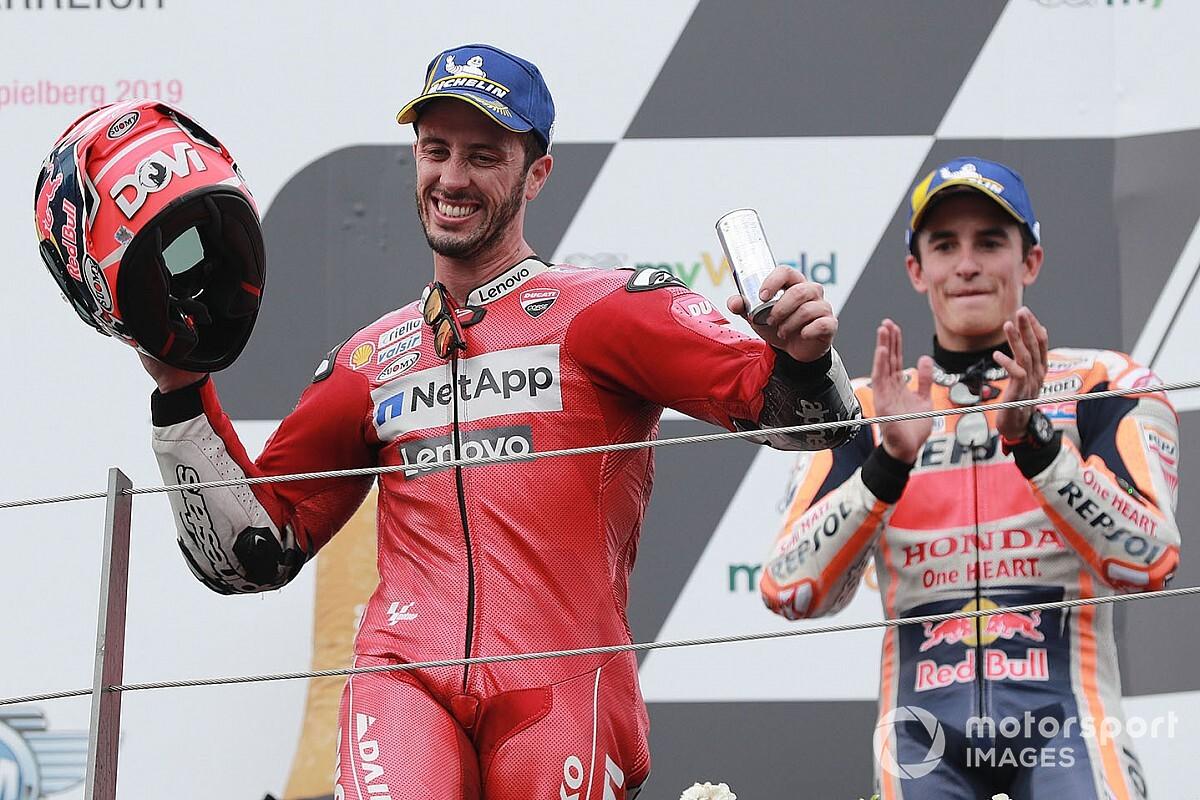 """Márquez crava seu favorito na disputa pelo título da MotoGP: """"Se Dovizioso for campeão, todo mundo ficaria feliz"""""""